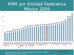 rmm por entidad federativa m xico 2009