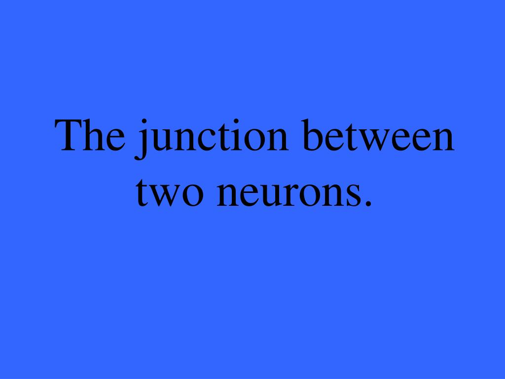 The junction between