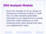 ekg analysis module