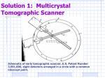 solution 1 multicrystal tomographic scanner