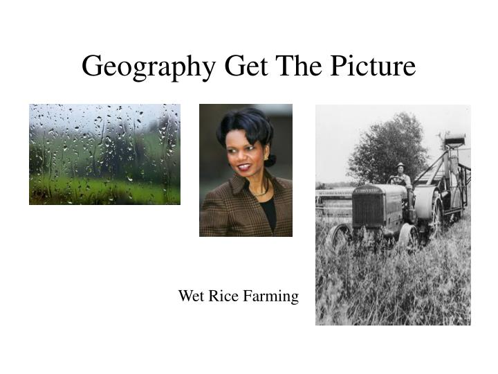 geography get the picture n.
