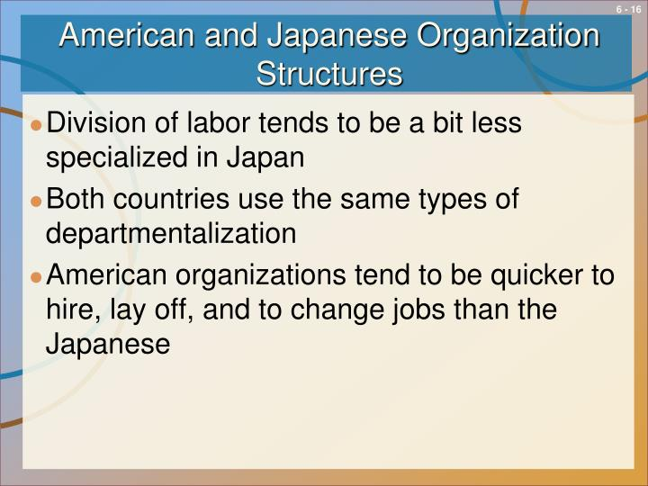 American and Japanese Organization Structures