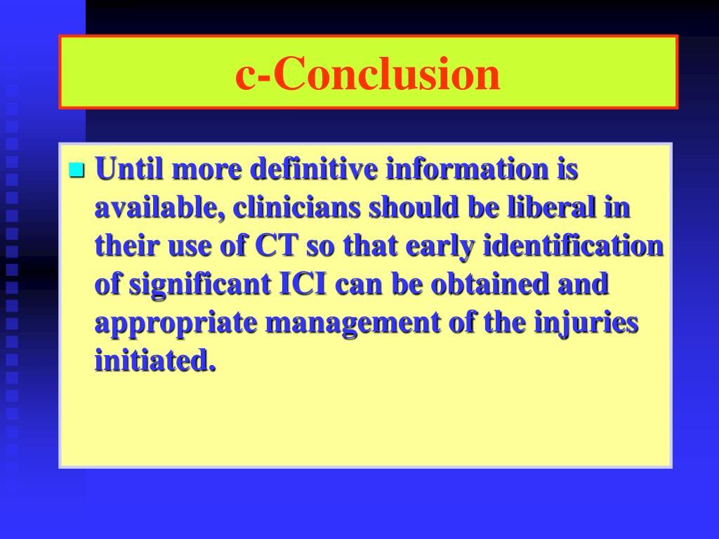 c-Conclusion