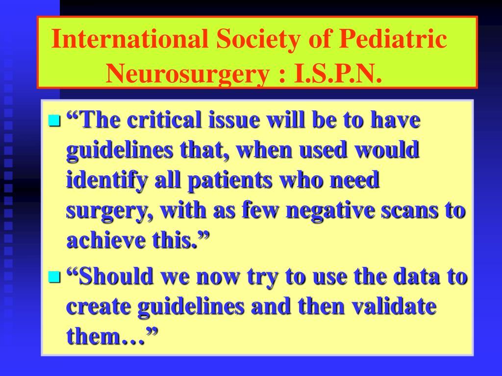 International Society of Pediatric