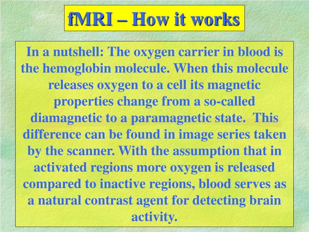 fMRI – How it works