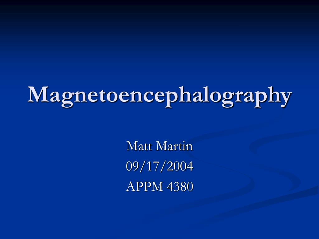 magnetoencephalography l.