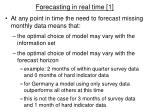 forecasting in real time 1