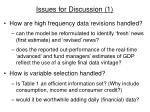 issues for discussion 1
