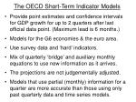 the oecd short term indicator models