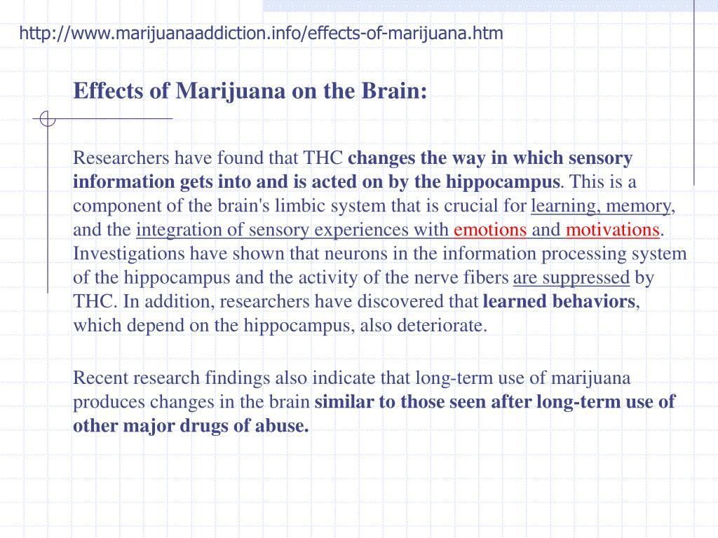 http://www.marijuanaaddiction.info/effects-of-marijuana.htm