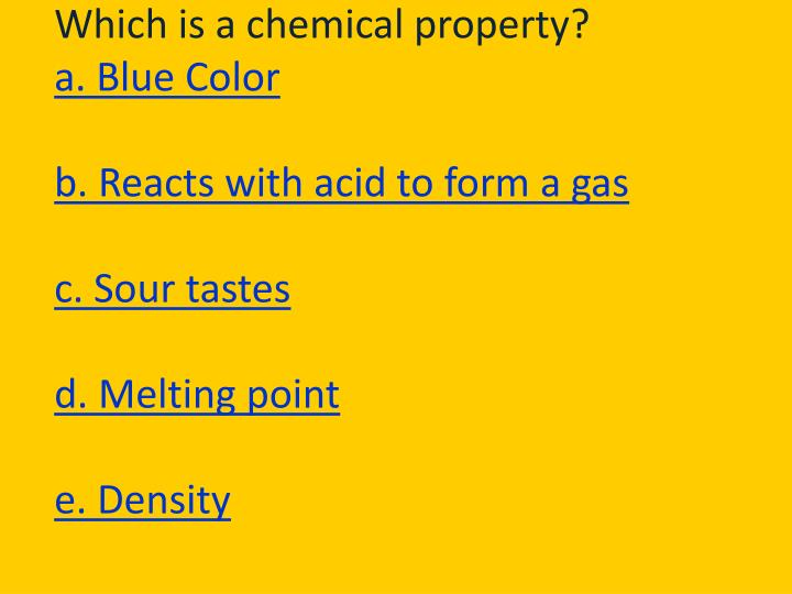 Which is a chemical property?