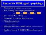 basis of the fmri signal physiology