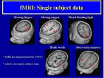 fmri single subject data