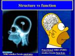 structure vs function