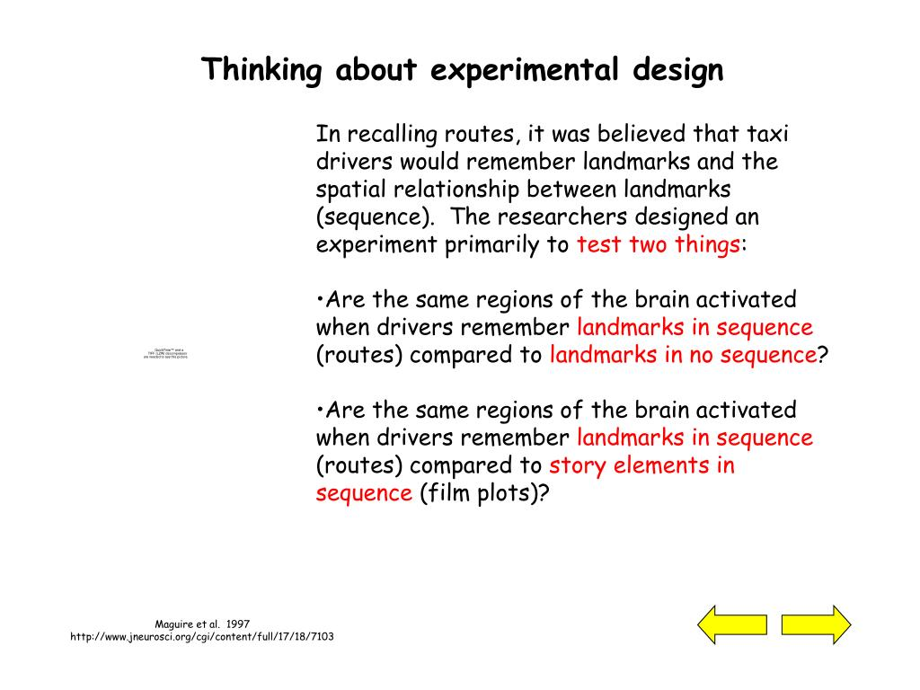 Thinking about experimental design