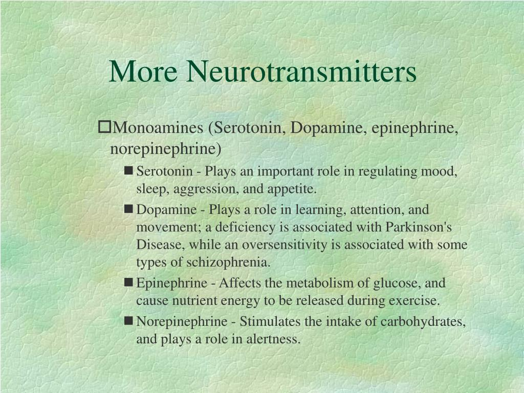More Neurotransmitters
