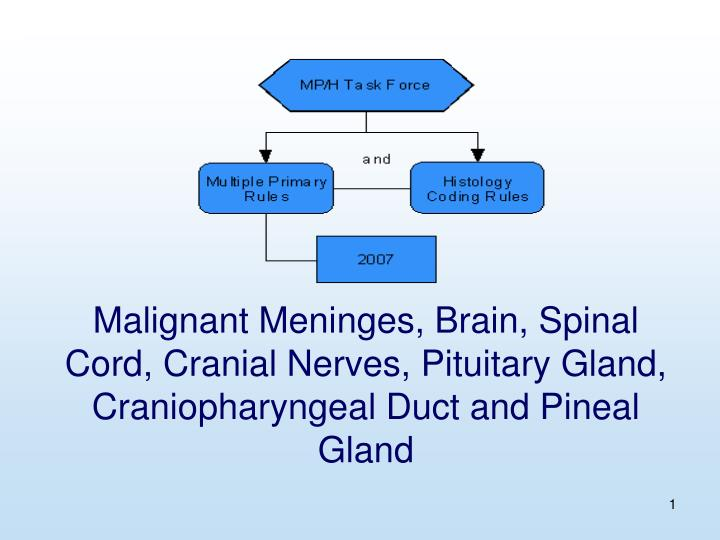 Malignant Meninges, Brain, Spinal Cord, Cranial Nerves, Pituitary Gland, Craniopharyngeal Duct and P...