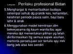 lanjutan perilaku profesional bidan