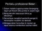 perilaku profesional bidan