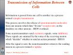 transmission of information between cells