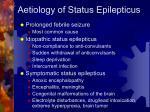 aetiology of status epilepticus