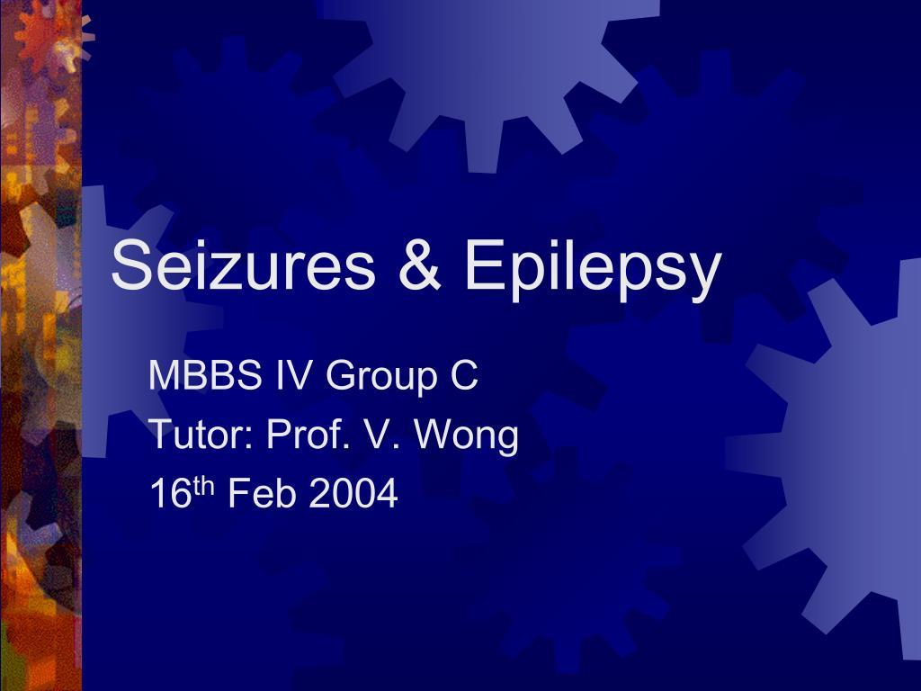 seizures epilepsy l.