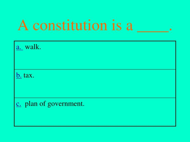 A constitution is a ____.