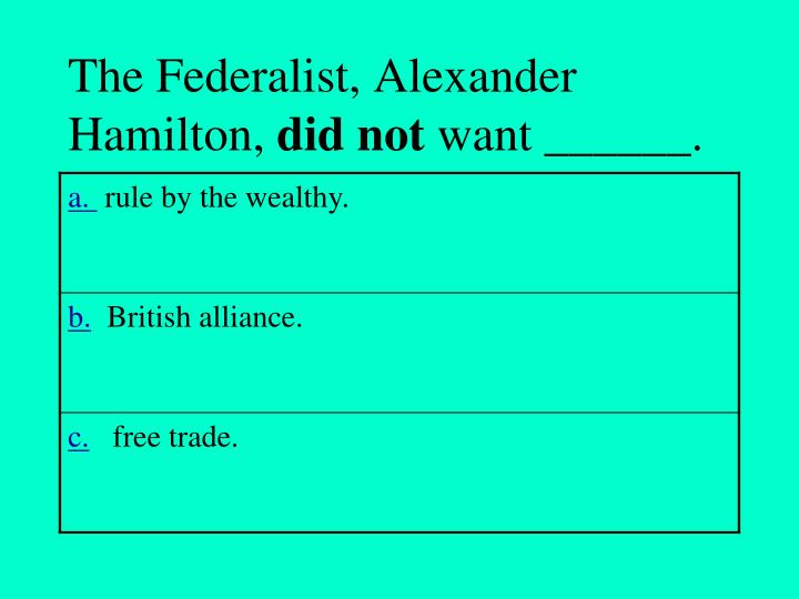 The Federalist, Alexander Hamilton,