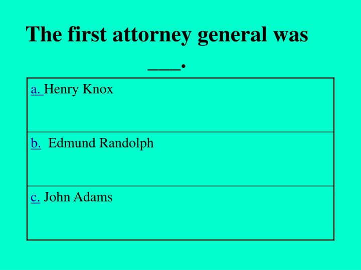The first attorney general was ___.