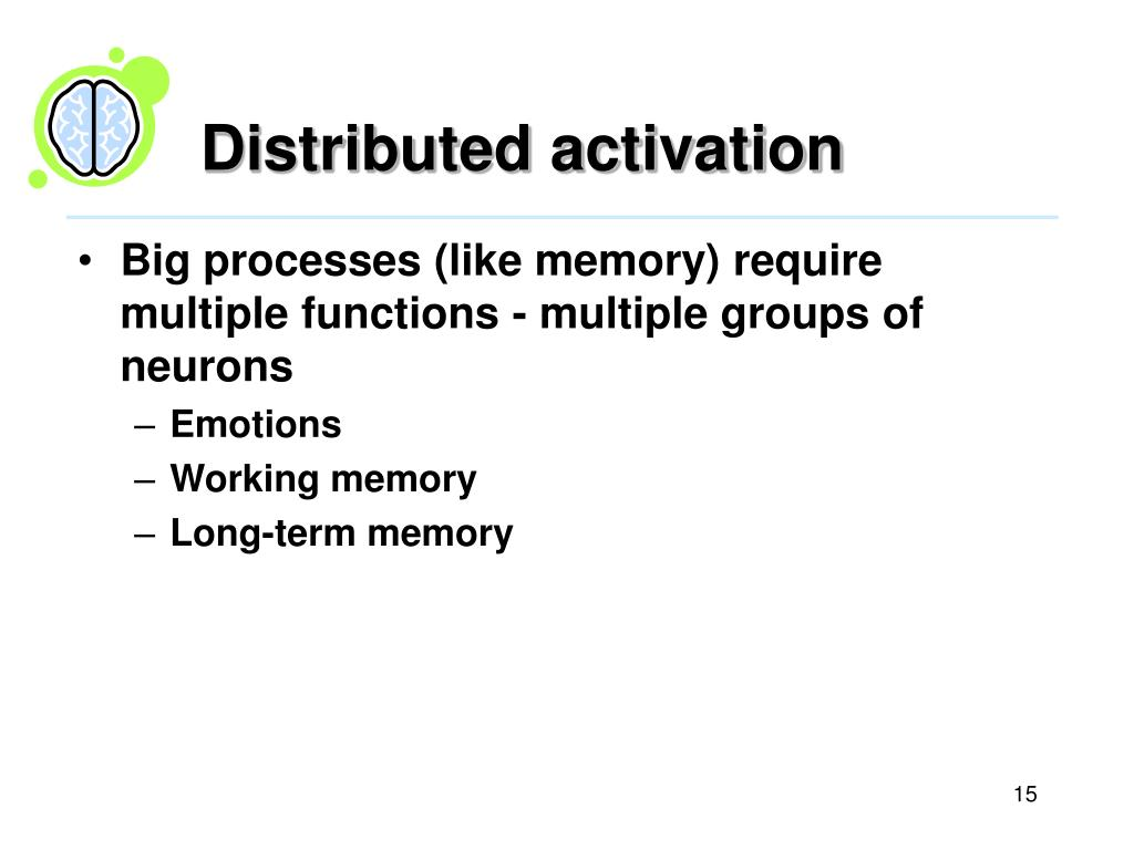 Distributed activation