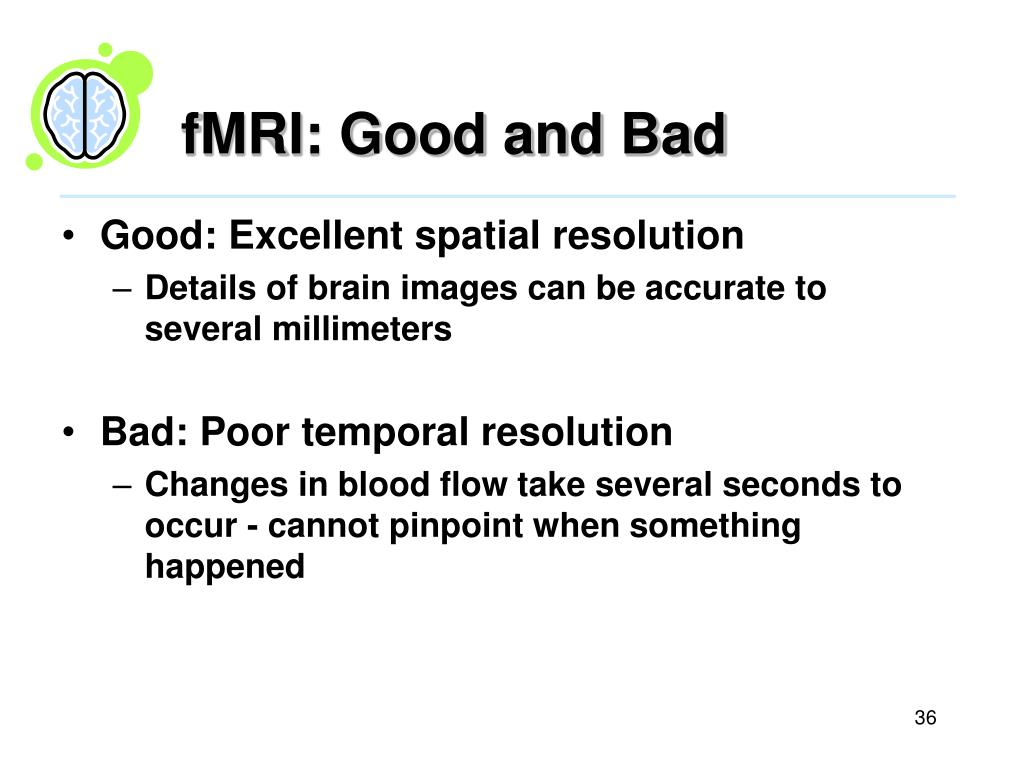 fMRI: Good and Bad