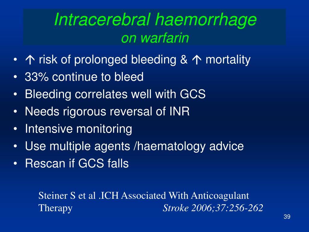 Intracerebral haemorrhage