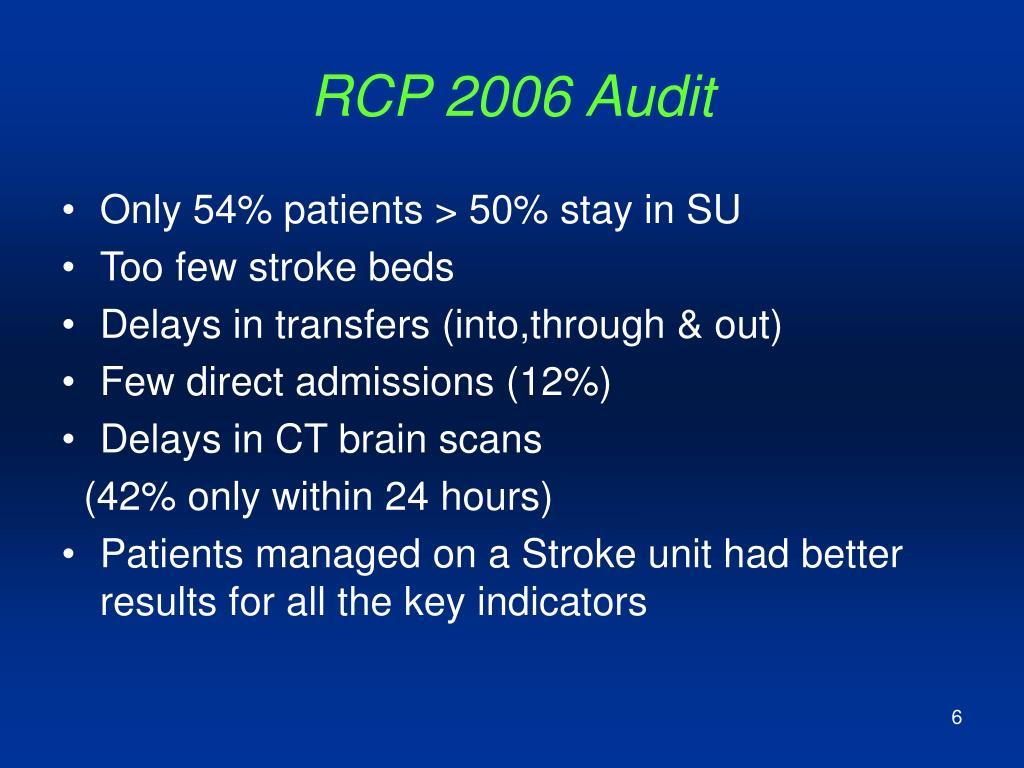 RCP 2006 Audit