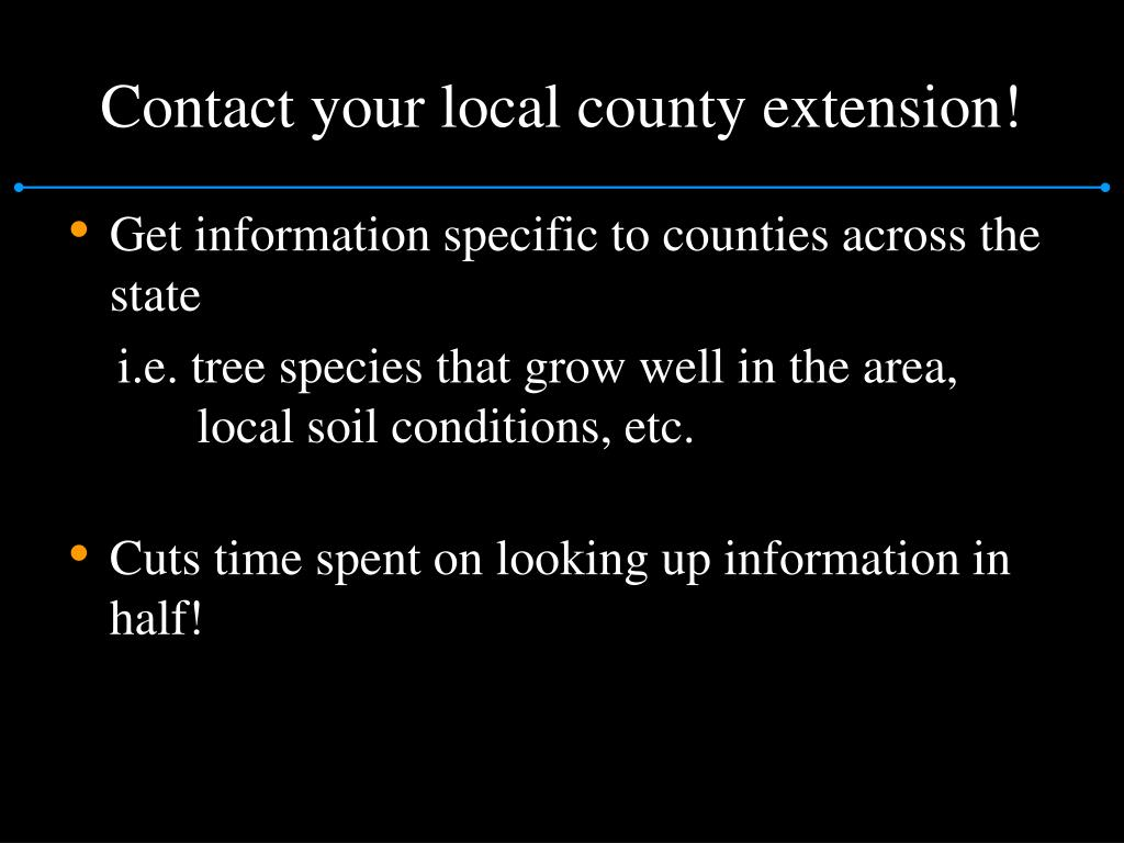 Contact your local county extension!