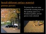 install different surface material porous pavers