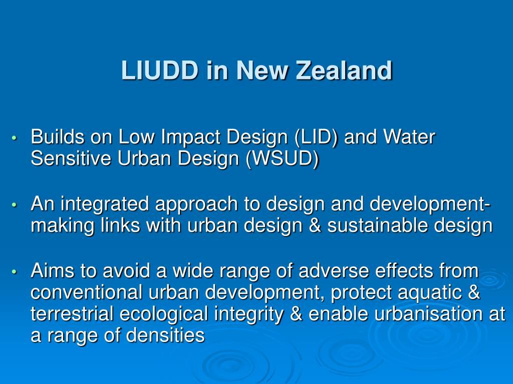 LIUDD in New Zealand