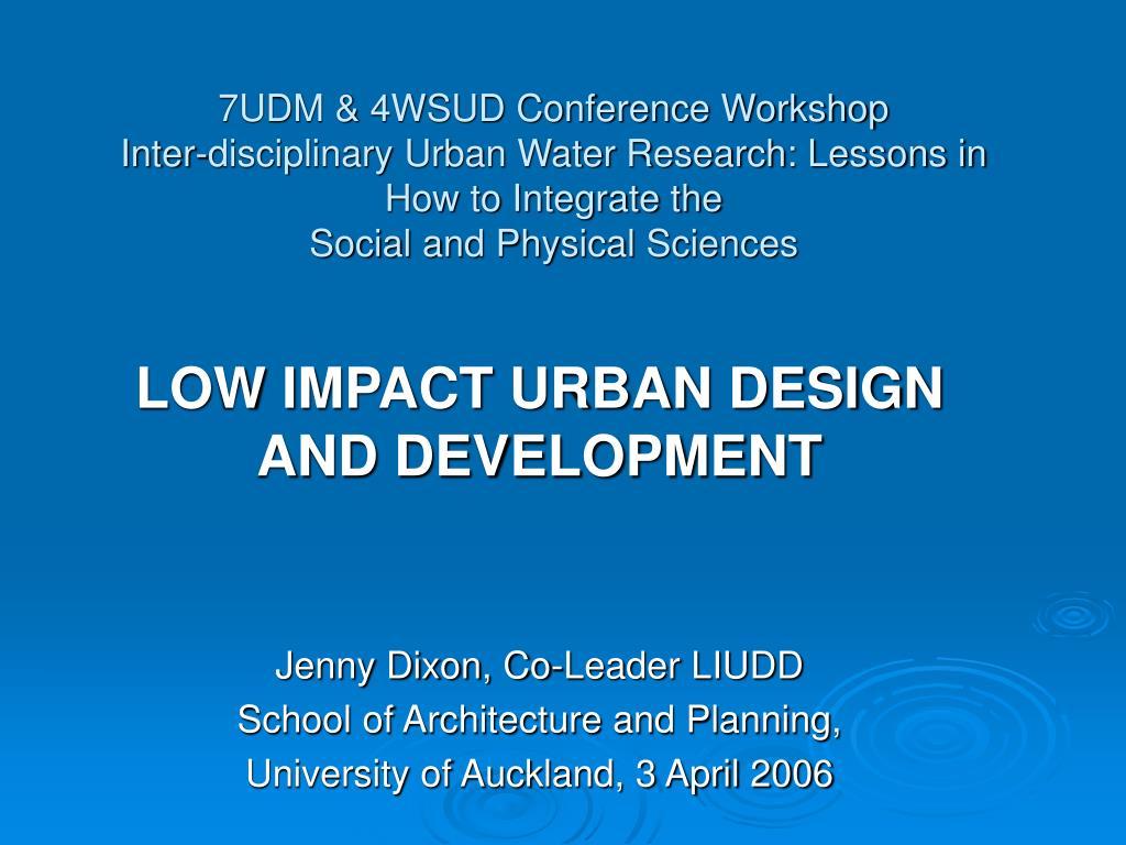 7UDM & 4WSUD Conference Workshop