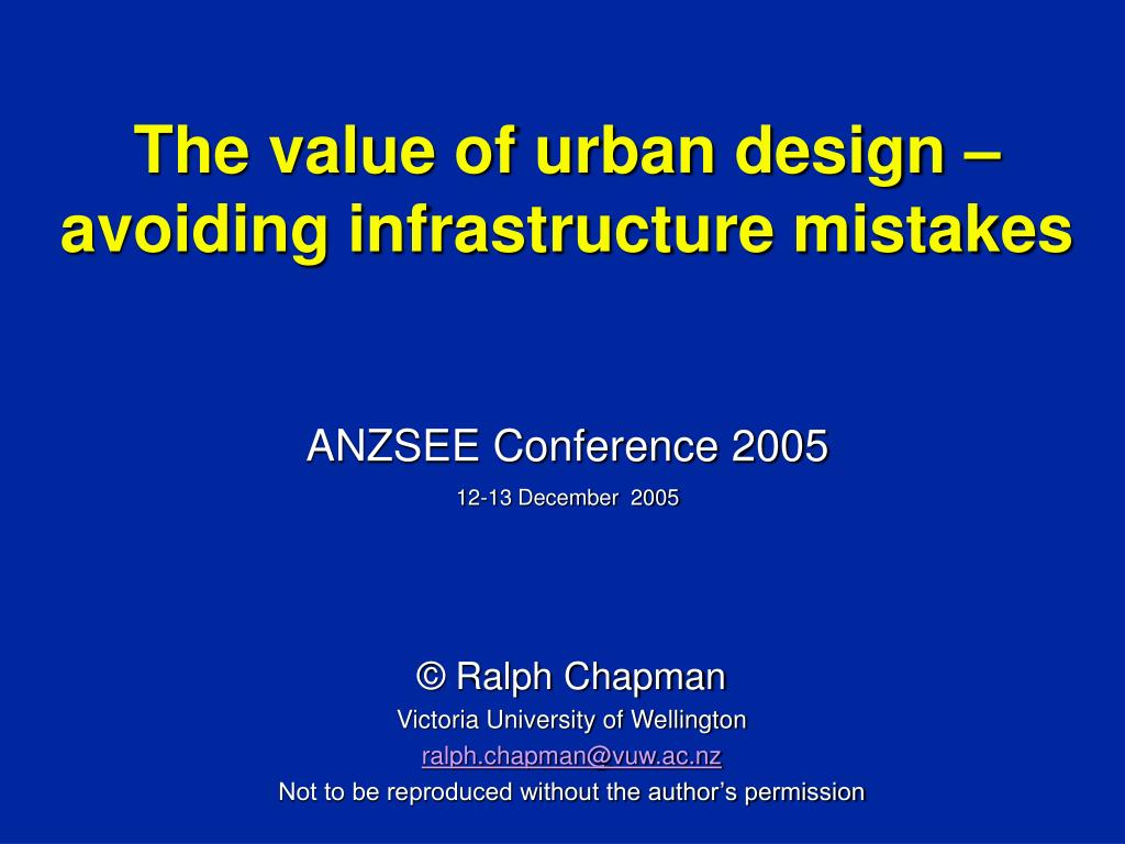 the value of urban design avoiding infrastructure mistakes l.
