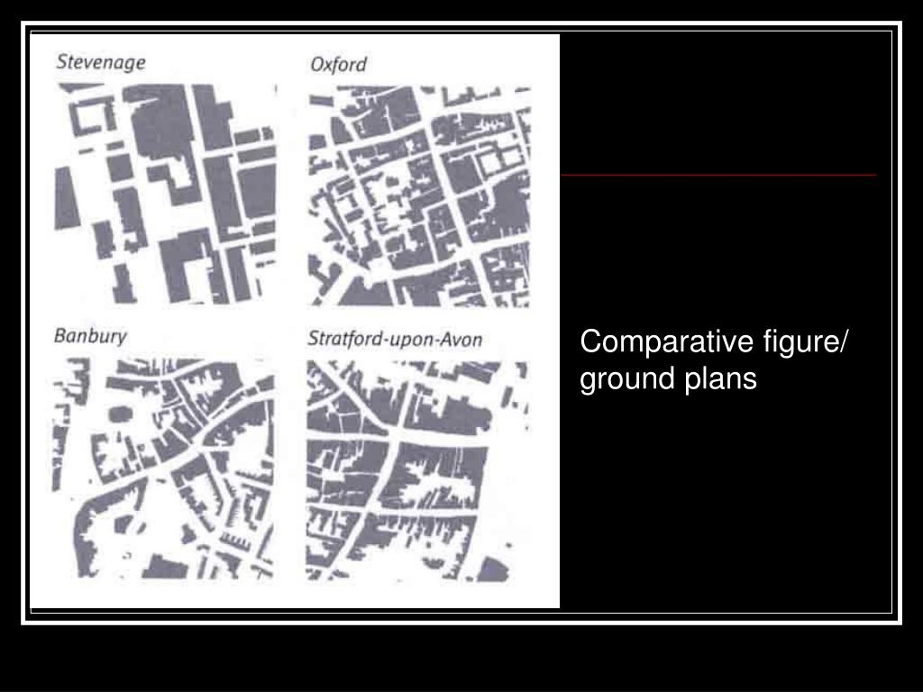 Comparative figure/ ground plans