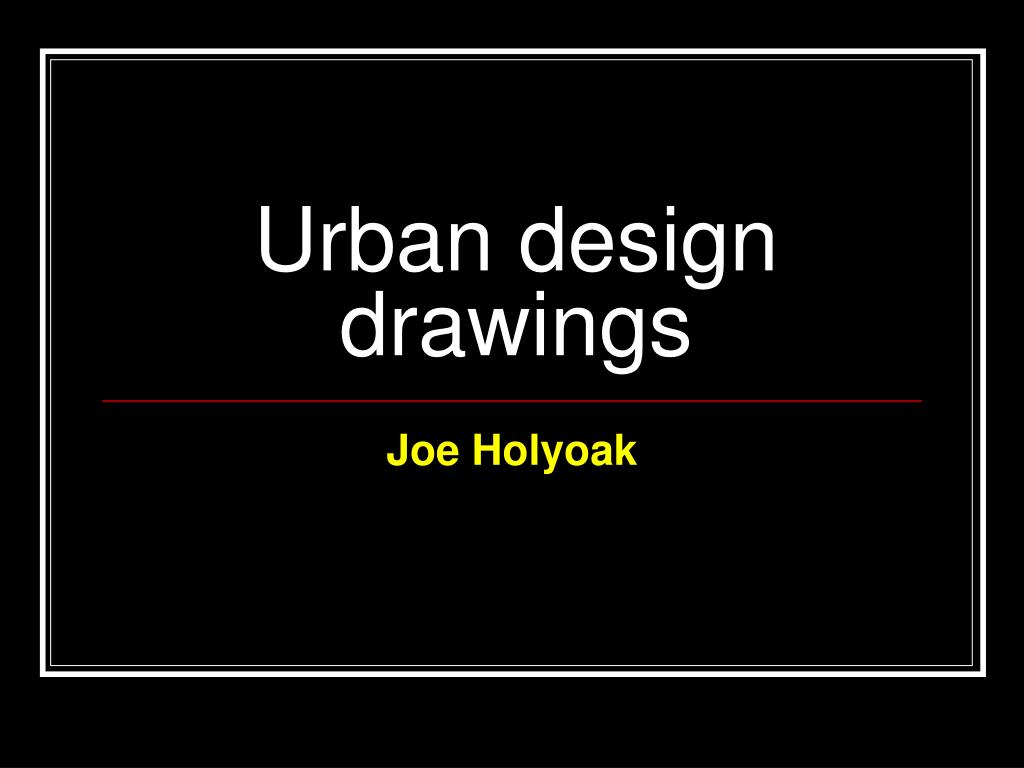 urban design drawings l.