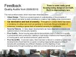 feedback quality audits from 2009 2010