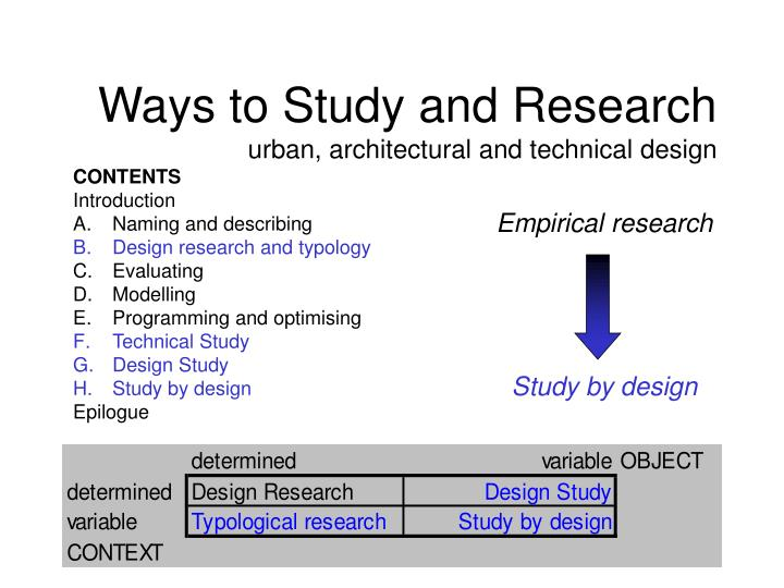 Ways to study and research urban architectural and technical design2