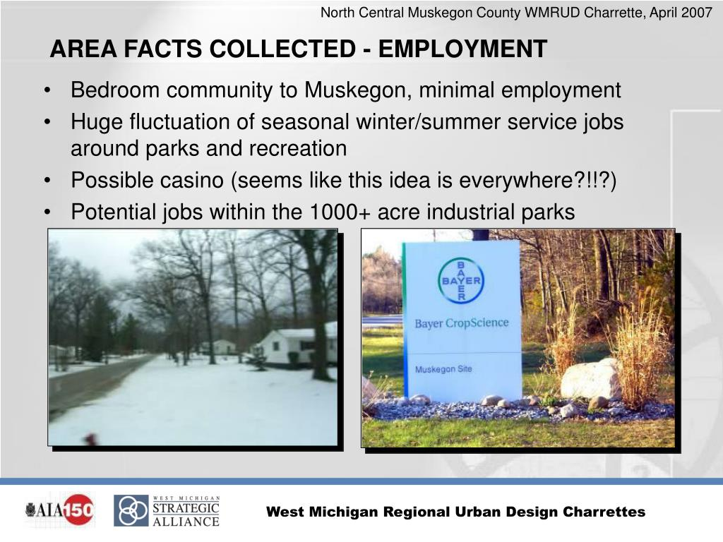 Bedroom community to Muskegon, minimal employment