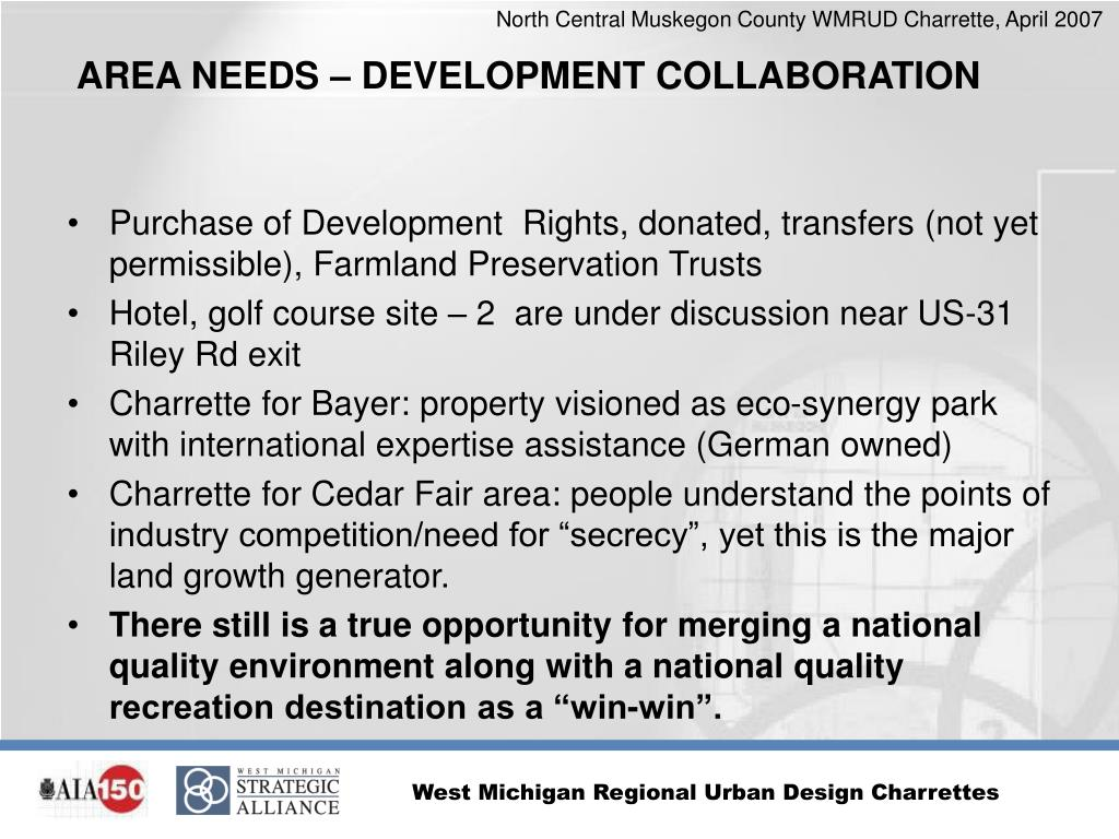 Purchase of Development  Rights, donated, transfers (not yet permissible), Farmland Preservation Trusts