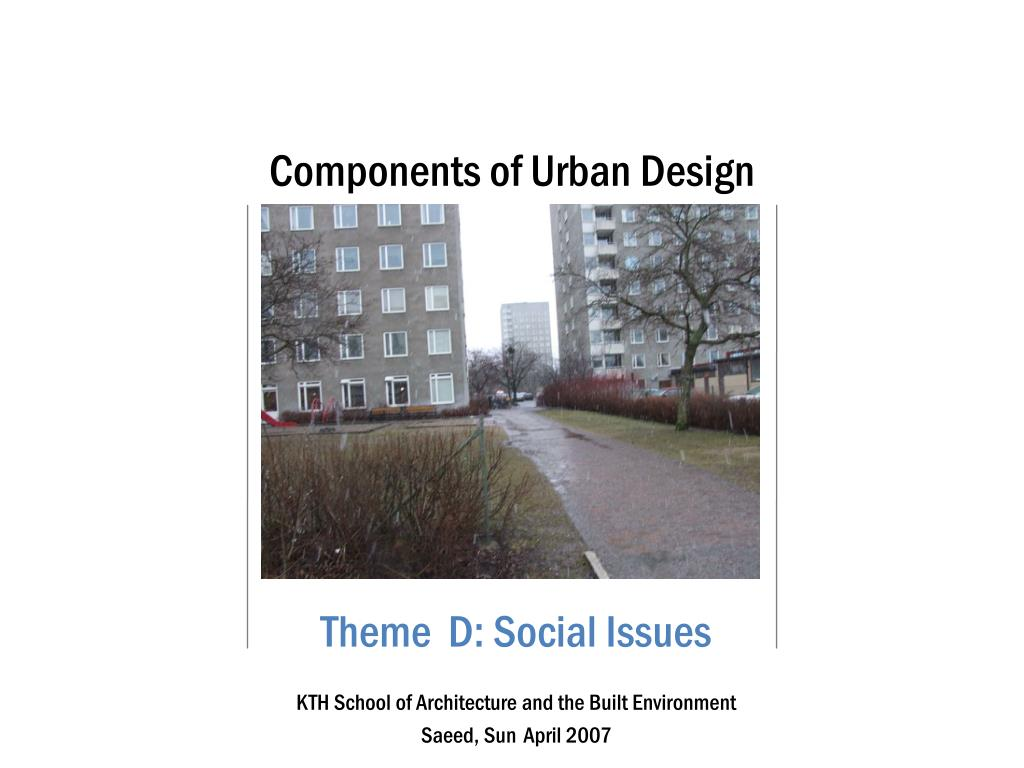 PPT - Components of Urban Design PowerPoint Presentation - ID:92032