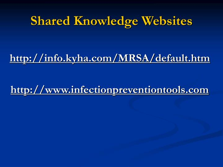 Shared Knowledge Websites