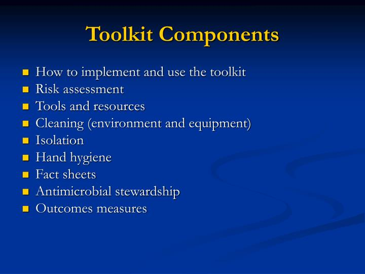 Toolkit Components