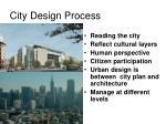 city design process