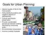 goals for urban planning