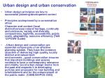 urban design and urban conservation